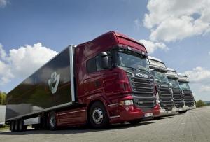Scania R730 четыре грузовика