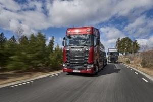 Scania S650 в движении