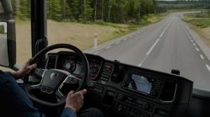 Scania  вид из кабины
